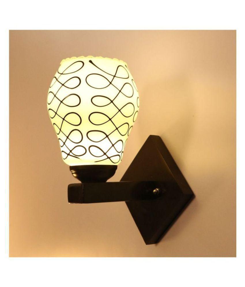 AFAST Decorative Wall Lamp Light Glass Wall Light Black - Pack of 1