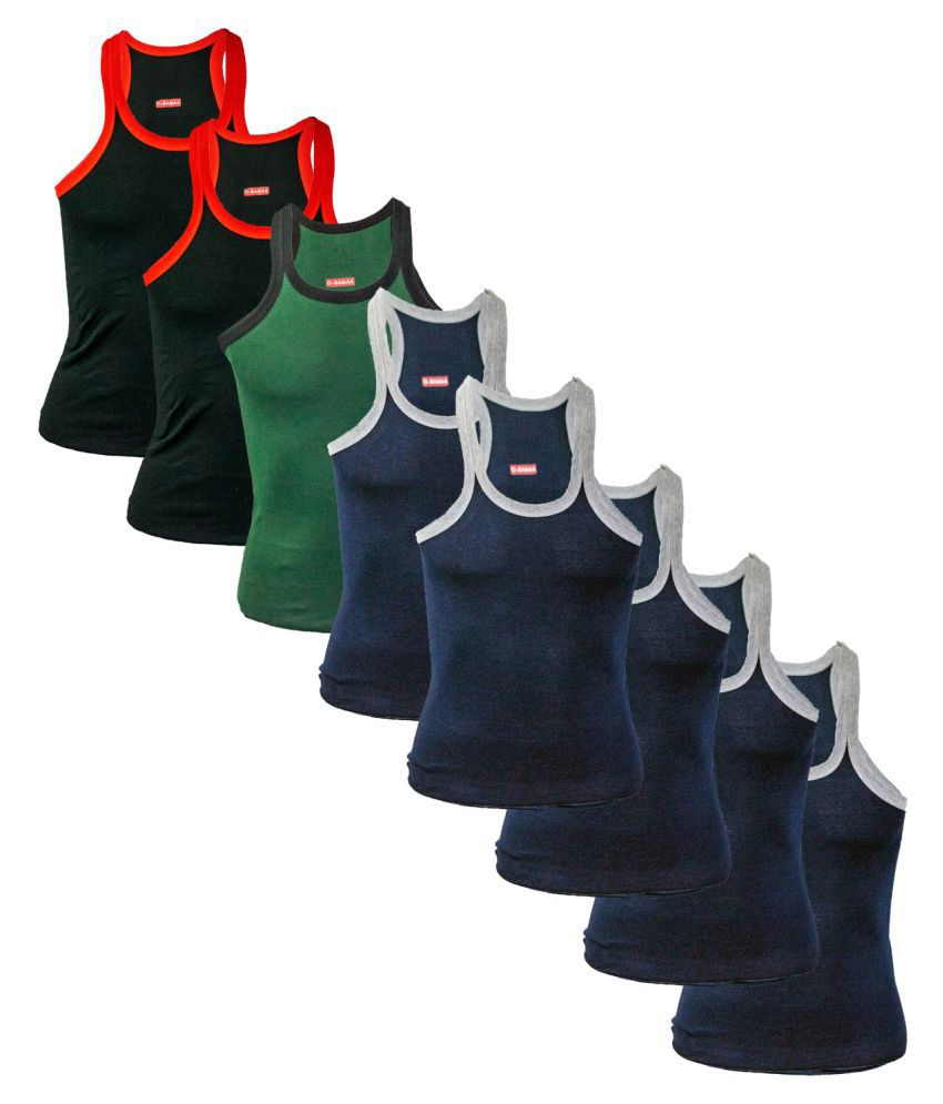 Rupa Multi Sleeveless Vests Pack of 8