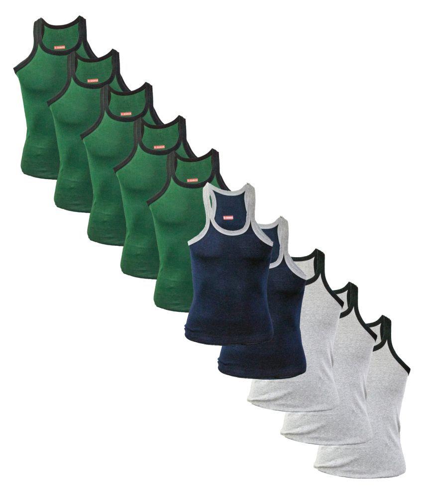 Rupa Multi Sleeveless Vests Pack of 10