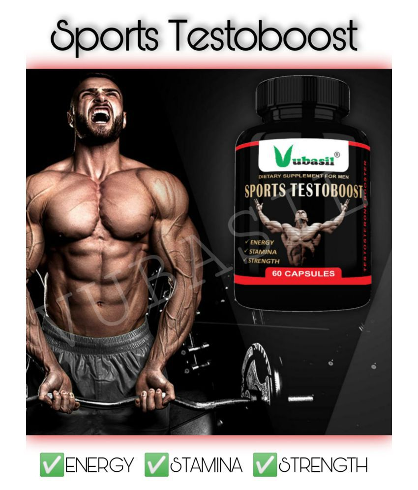 VUBASIL Best Natural Testosterone Booster (60 Capsules)For Stamina Strength Lean Muscle 800 mg Multivitamins Capsule
