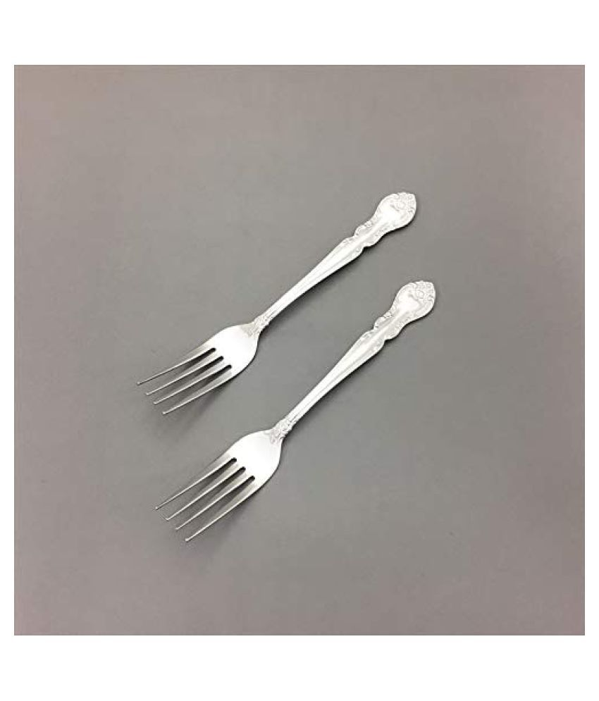 HYAKKIN JAPAN SHOP 2 Pcs Stainless Steel Salad Fork