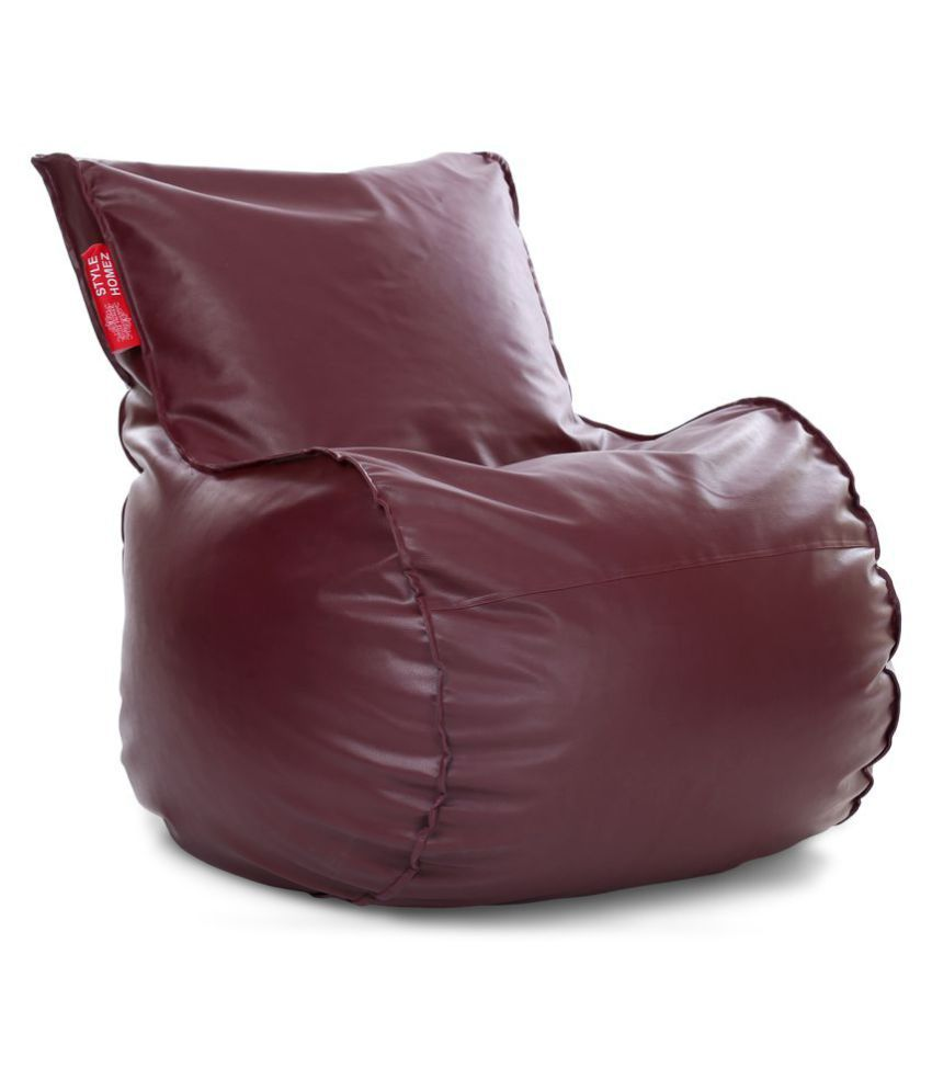 Style Homez Mambo Lounger XXL Bean Bag Maroon Color Cover Only