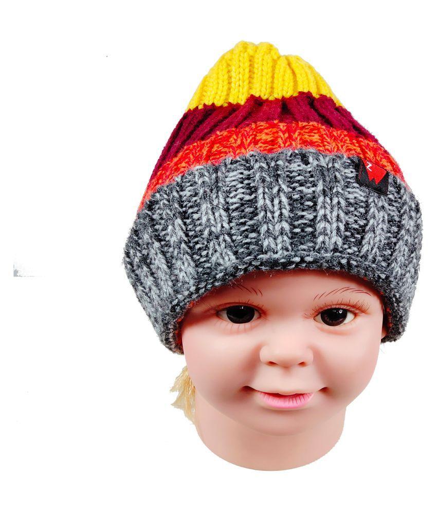 Winter Striped MultiColor Kids Stylish Cap