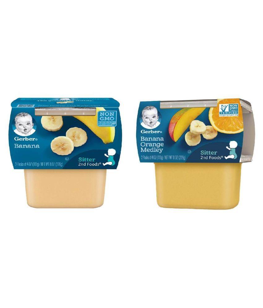 Gerber Banana Orange Medley + Banana Snack Foods for 6 Months + ( 452 gm )