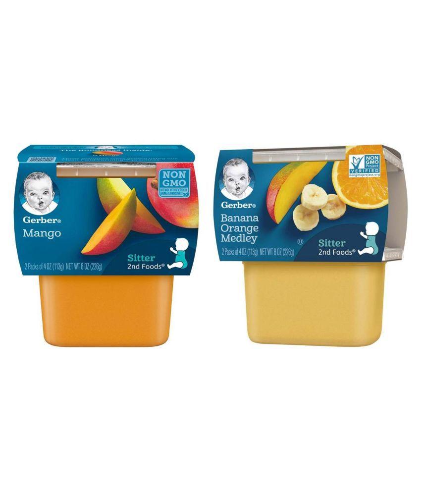 Gerber Banana Orange Medley + Mango Snack Foods for 6 Months + ( 452 gm )