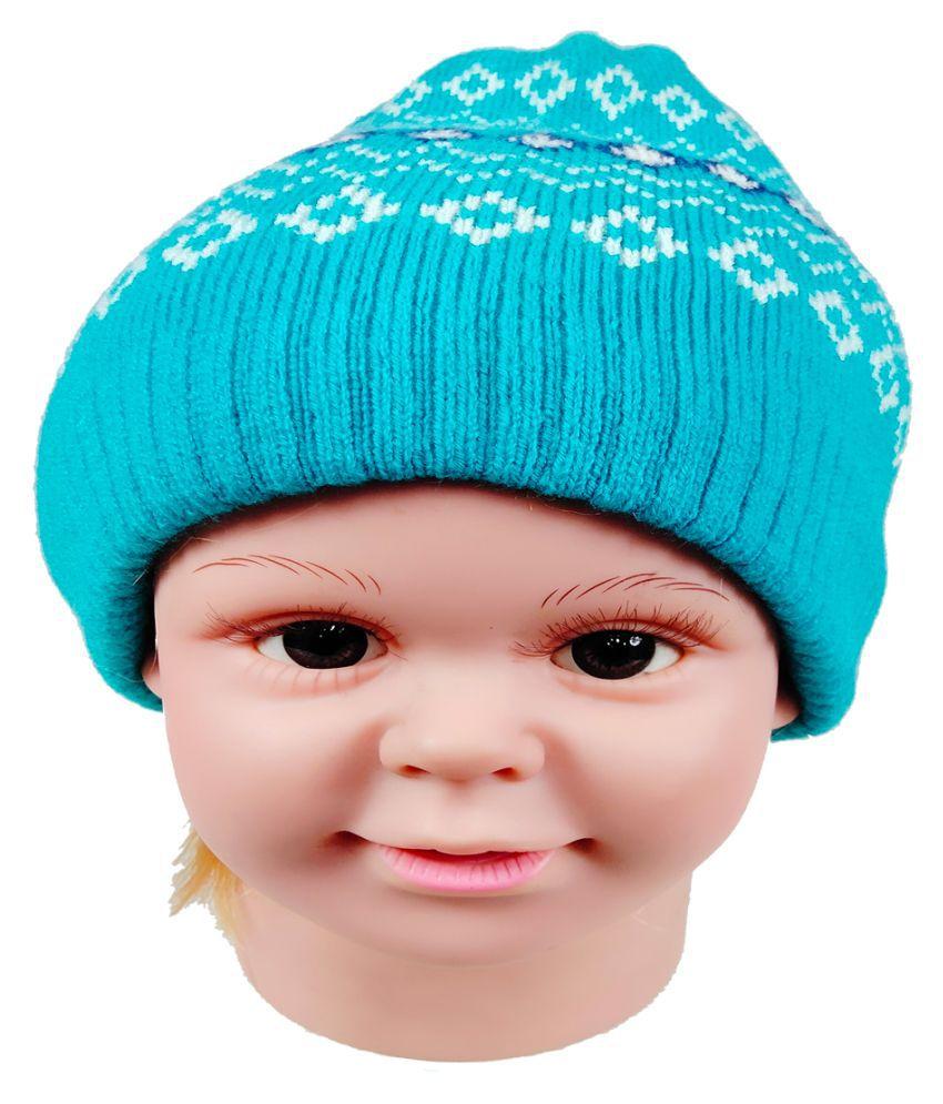 Warmzone Winter Striped MultiColor Kids Stylish Cap  (0195C)