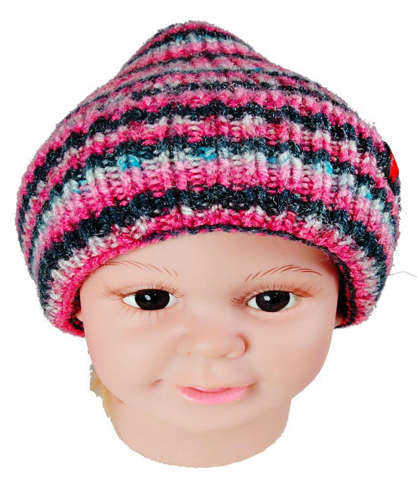Warmzone Winter Striped MultiColor Kids Stylish Cap ( 0224C )