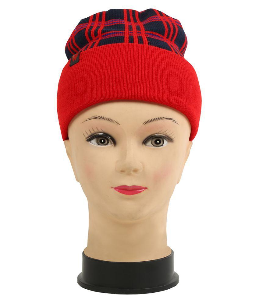 Warmzone Winter Checkered Color Girls Stylish Cap