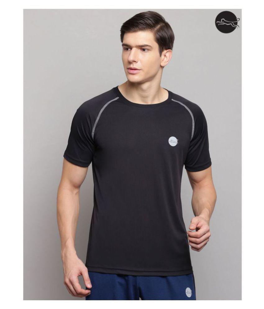 FITMonkey Black Polyester T-Shirt