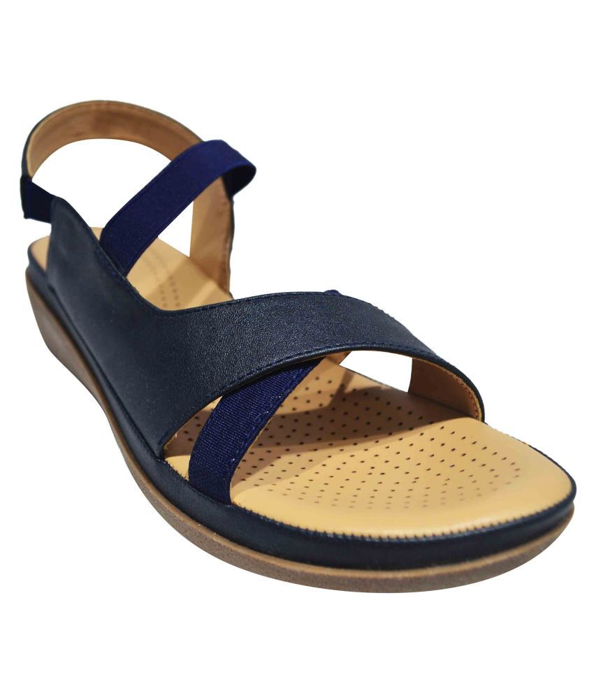 Freya Blue Flats