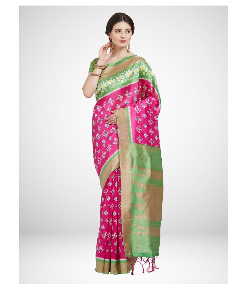 Sherine Green Art Silk Saree
