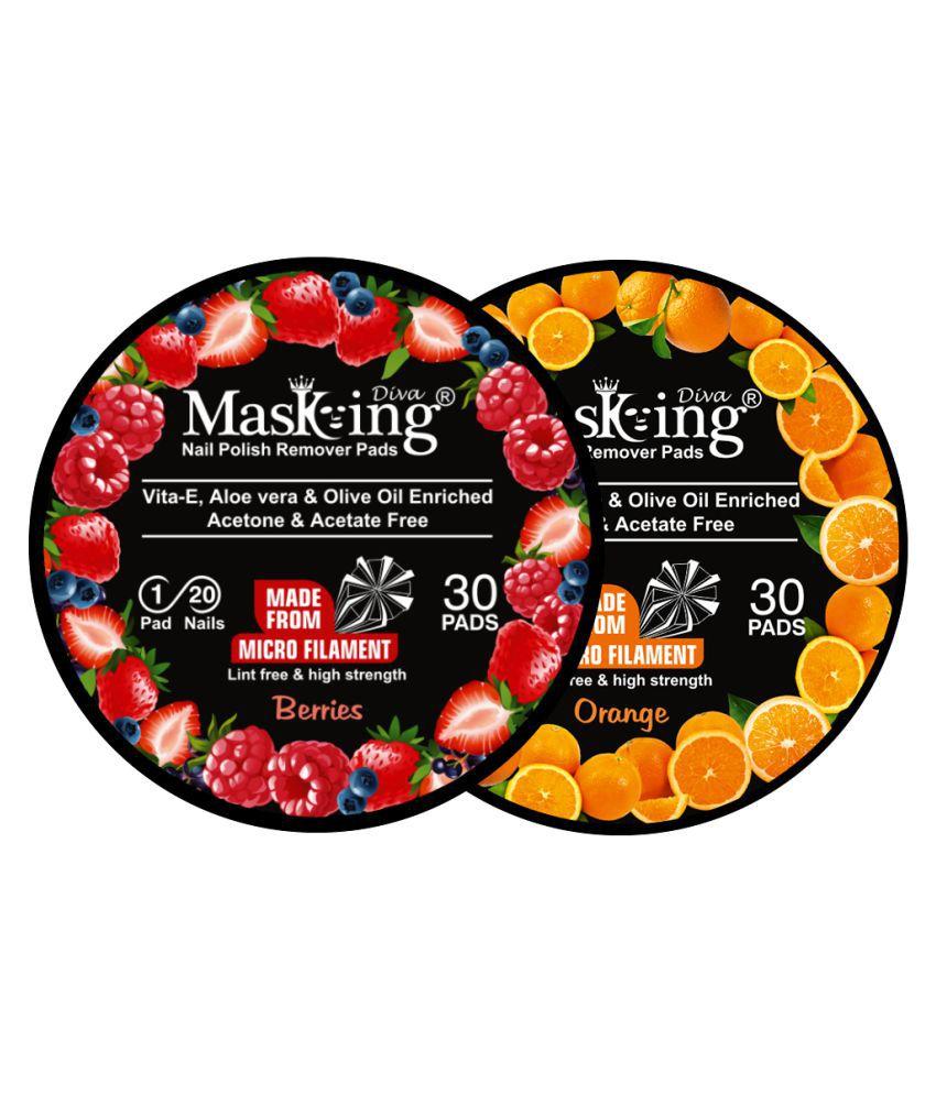 Masking Diva Berries & Orange Nail Paint Remover Pads 40 mL
