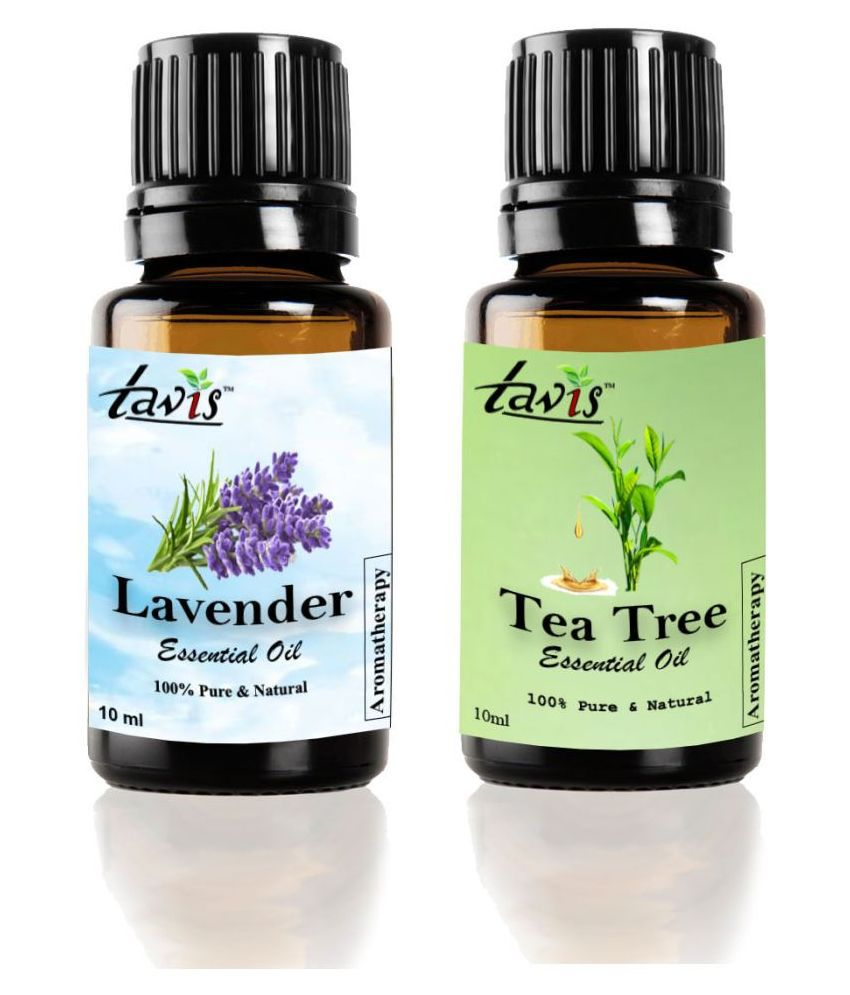 Tavis Lavender Oil, Tea Tree Essential Oil 20 mL