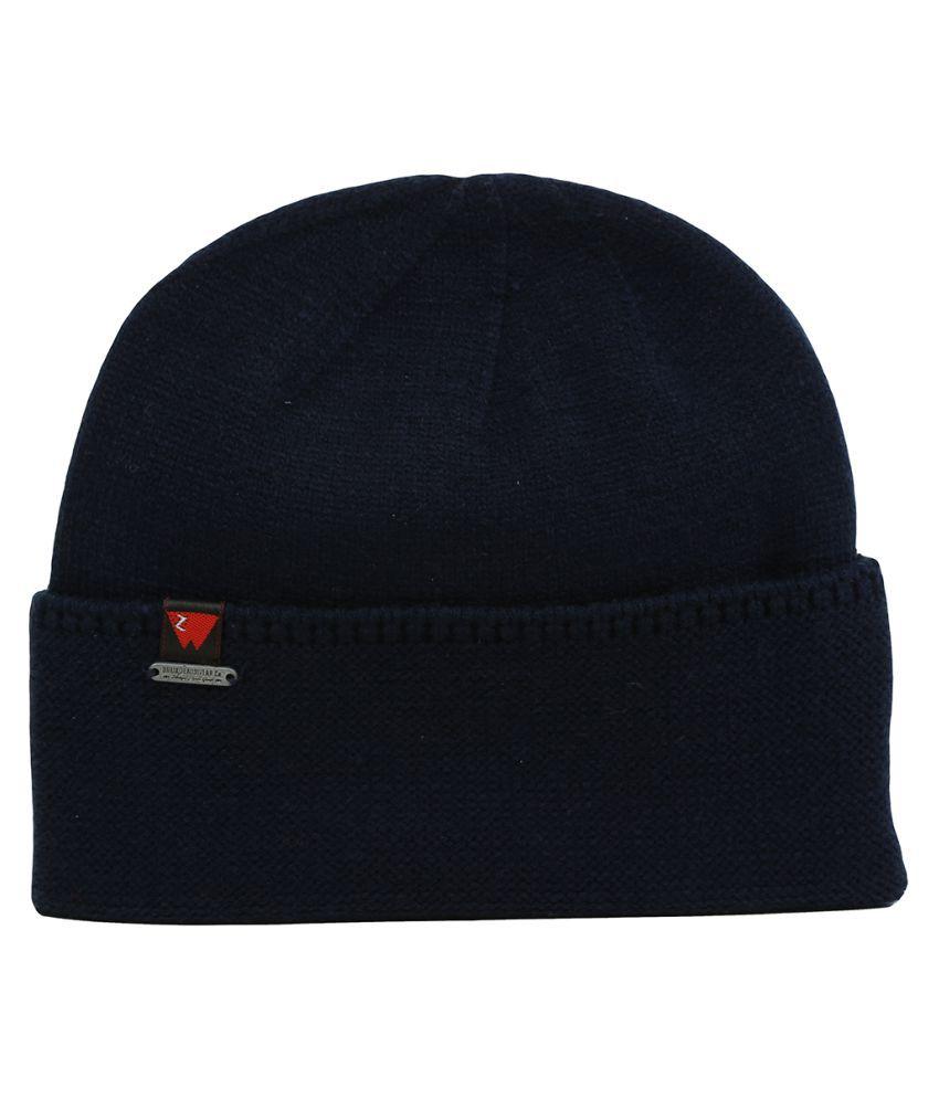 WARMZONE Navy Plain Acrylic Caps