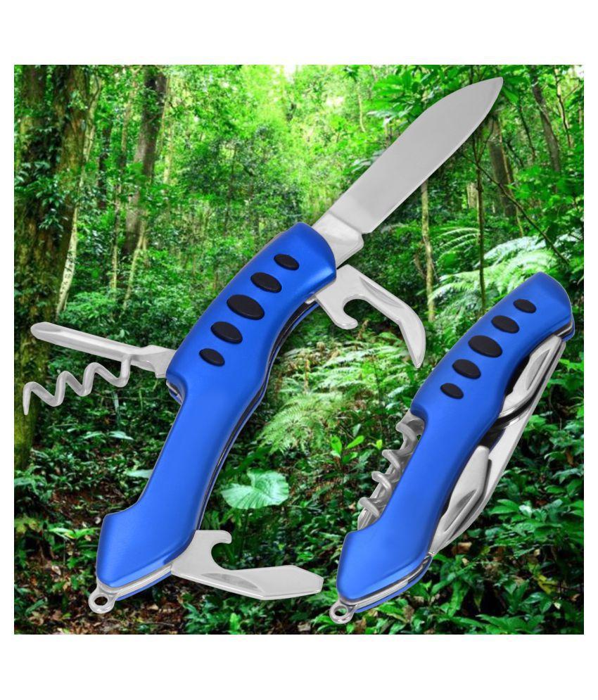 5-in-1 Multi Pocket Army Knife Tool Can Bottle Opener Screwdriver Scissor