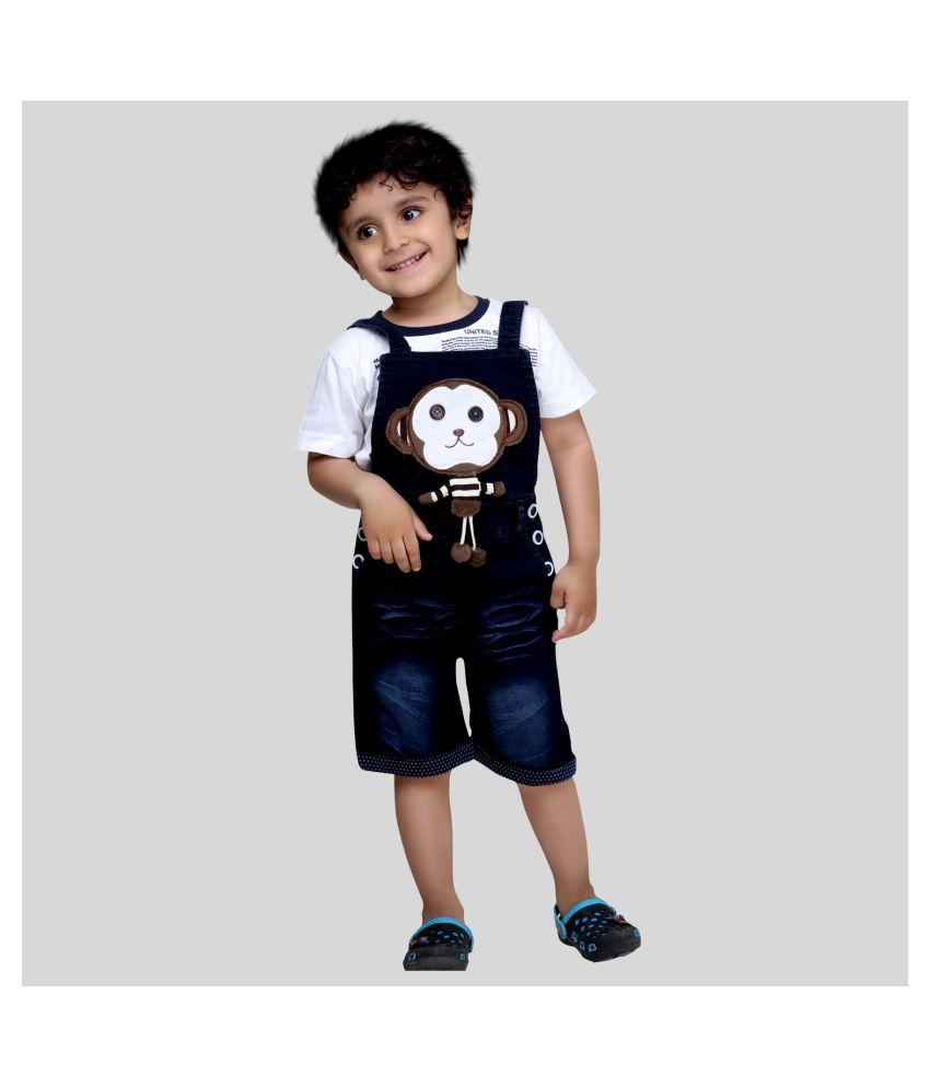 Bad Boys Stylish and casual Dungaree & T-shirt Set.