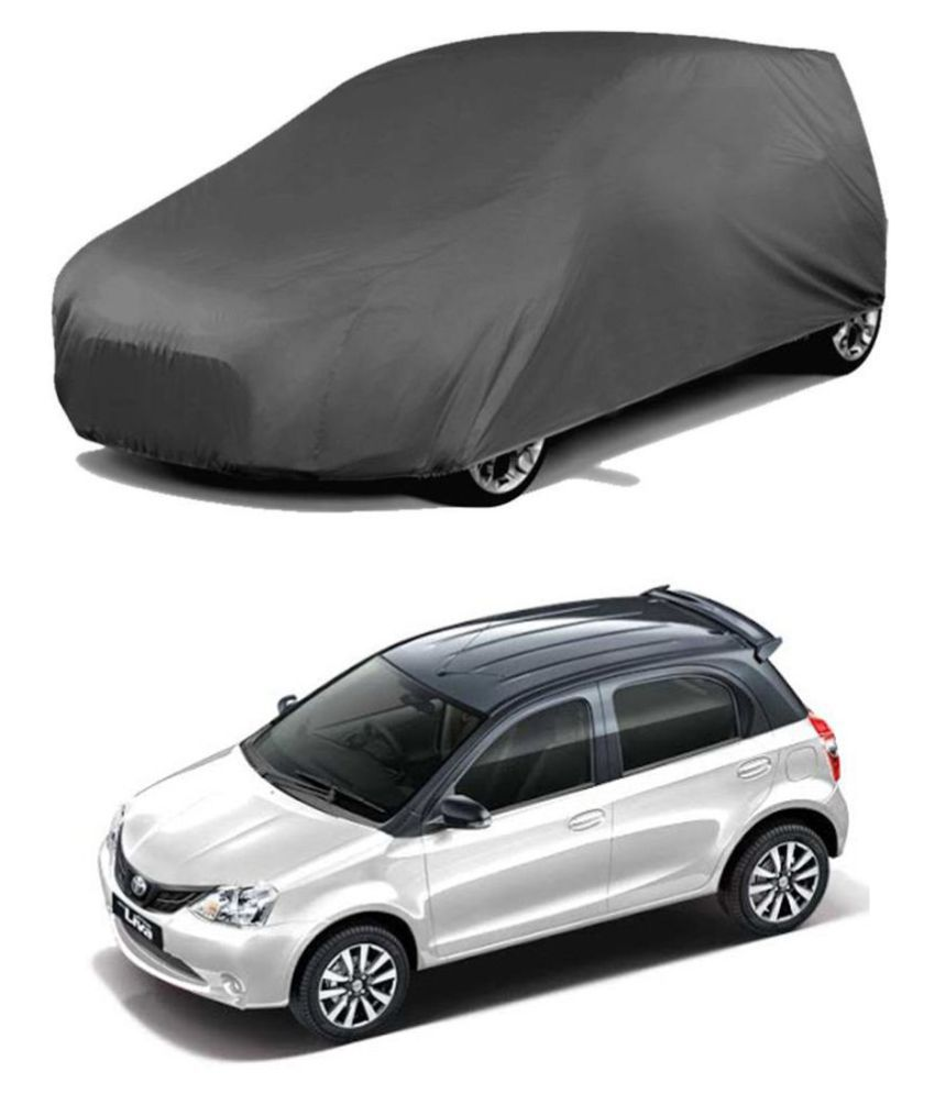 EKRS Dust-proof Car Body Covers For Toyota ETIOS-LIVA with out Mirror Pockets, Triple Stitching & Light Weight (Grey Color) Model 2019-20