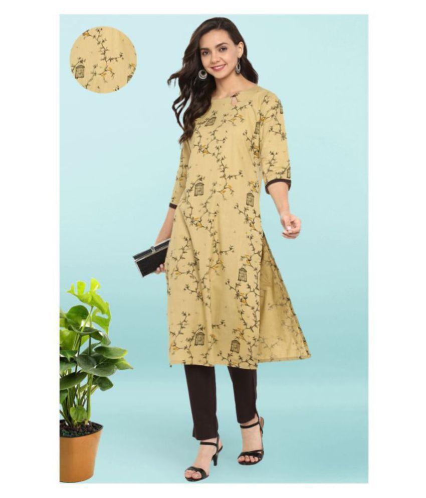 Janasya Cotton Kurti With Pants - Stitched Suit