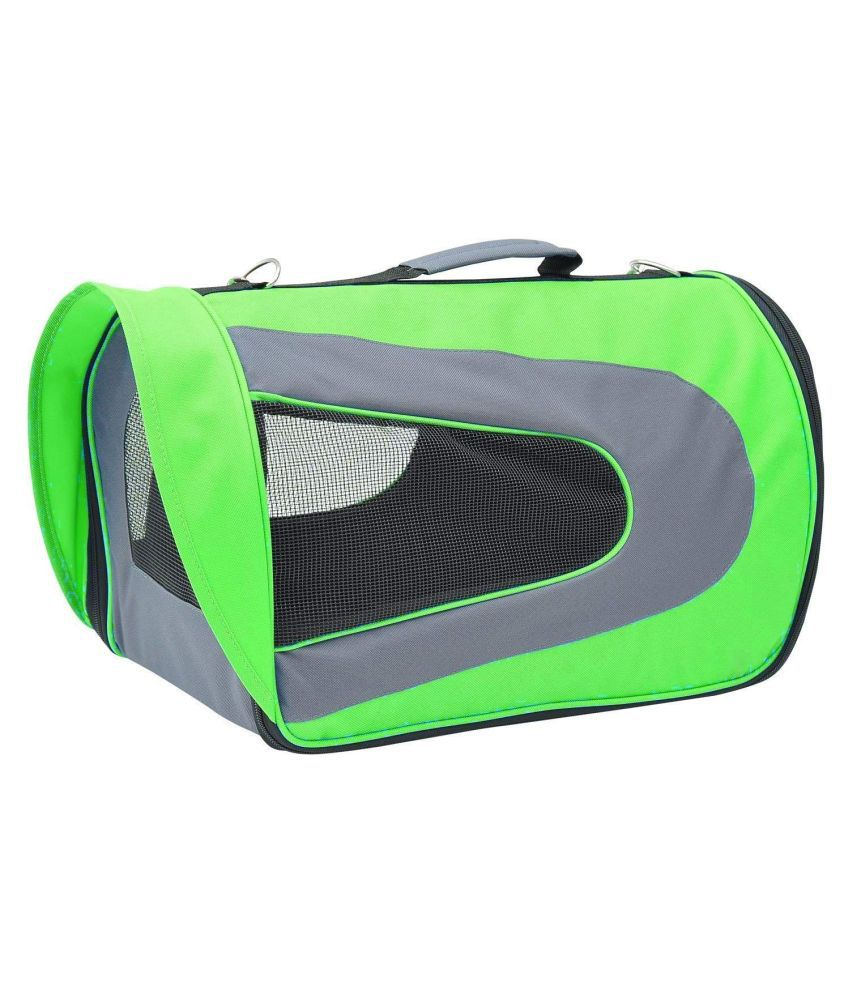 Emily Pets Soft-Sided Airline Approved Pet Travel Carrier for Cats, Small Dogs, Puppies and Pets (Green)