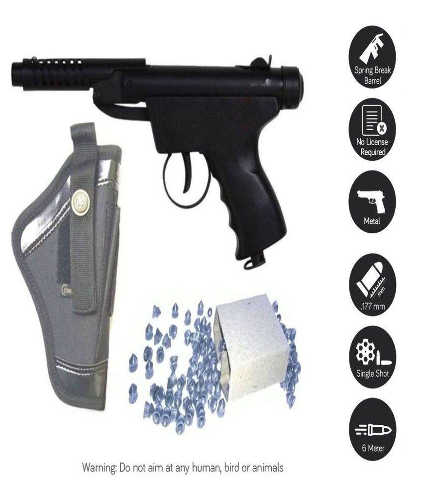 JGG Bond 2 Metal Air Pistol, 200 Bullets With Cover