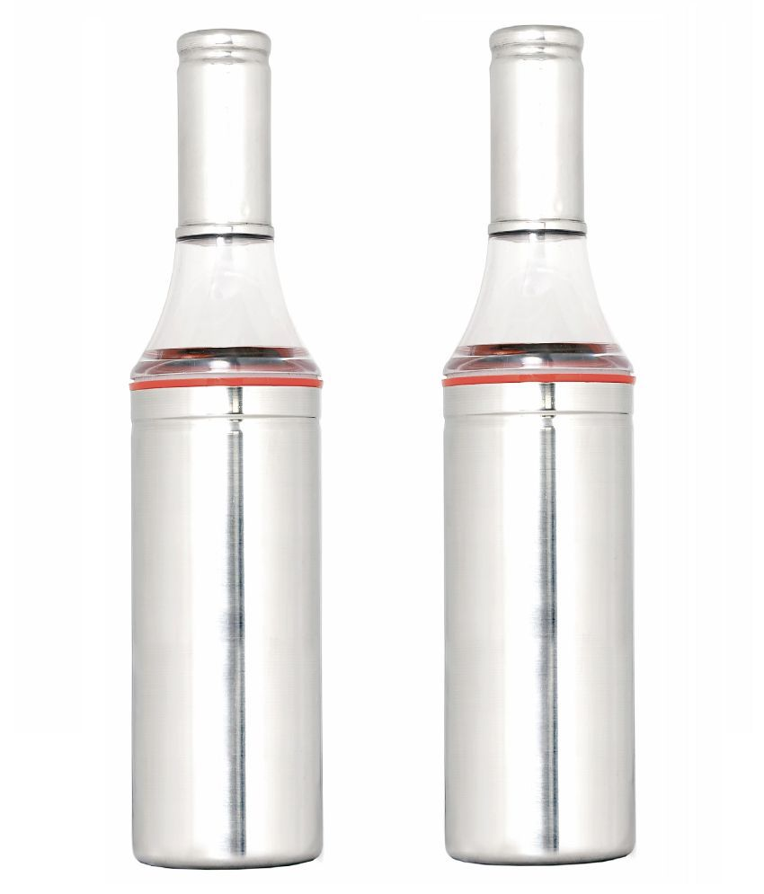 AKG Cooking Steel Oil Container/Dispenser Set of 2 1000 mL