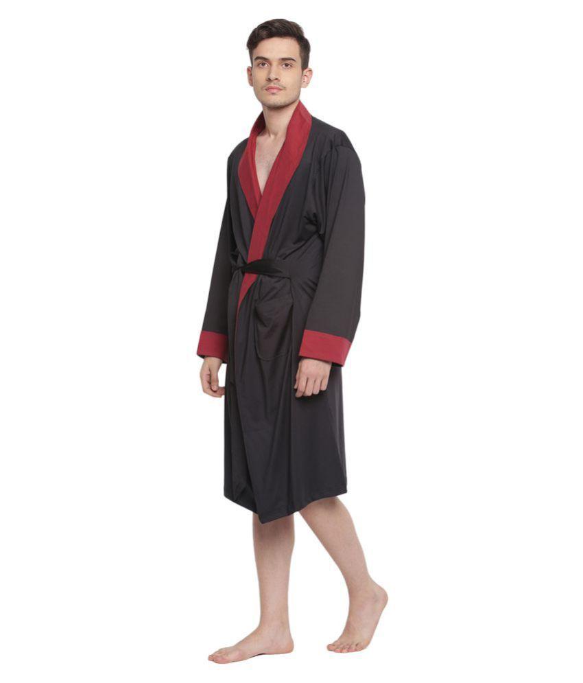 La Intimo Single Medium Bathrobe Black