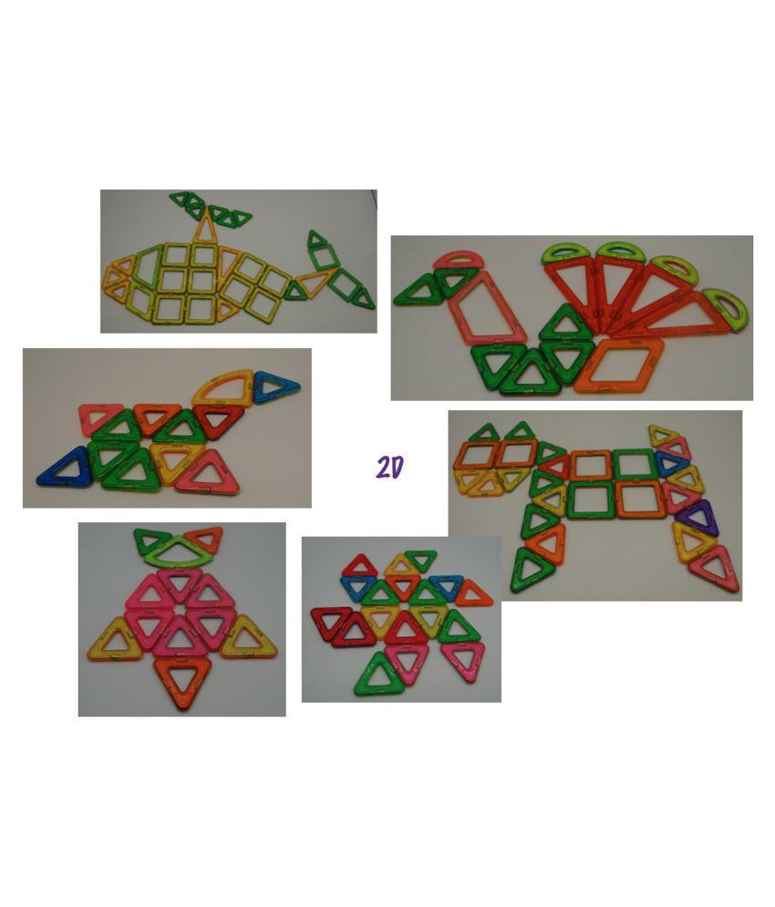 80 Pcs   Magnetic Building Blocks
