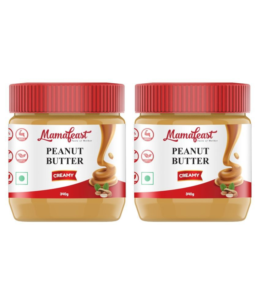 Mamafeast Peanut Butter Creamy 680 gm Pack of 2