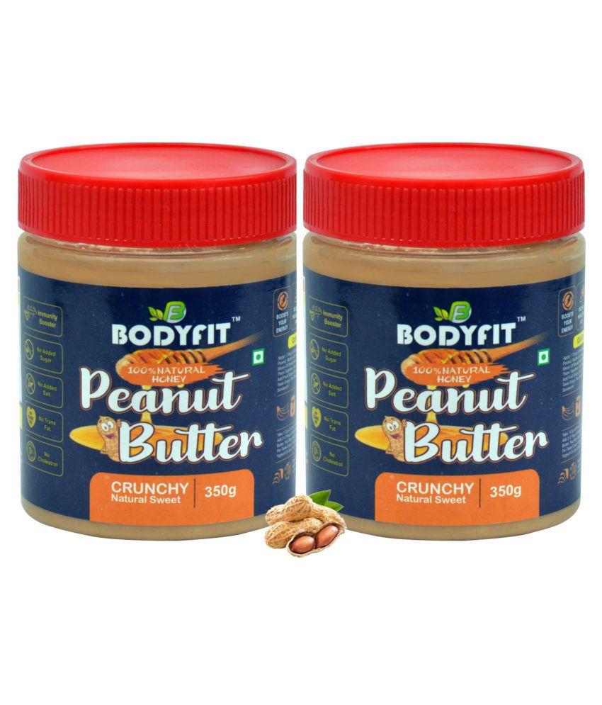 BODYFIT PEANUT BUTTER NATURAL HONEY CRUNCH Butter Chunky 700 gm