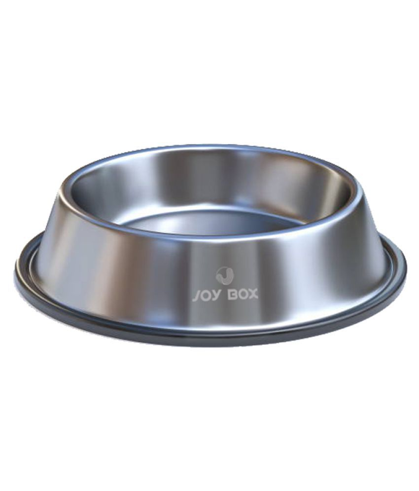 Joy Box Anti Skid Non Tip Stainless Steel Pets Feeding Bowls for Dogs & Puppies to Feed Water & Food (Large)