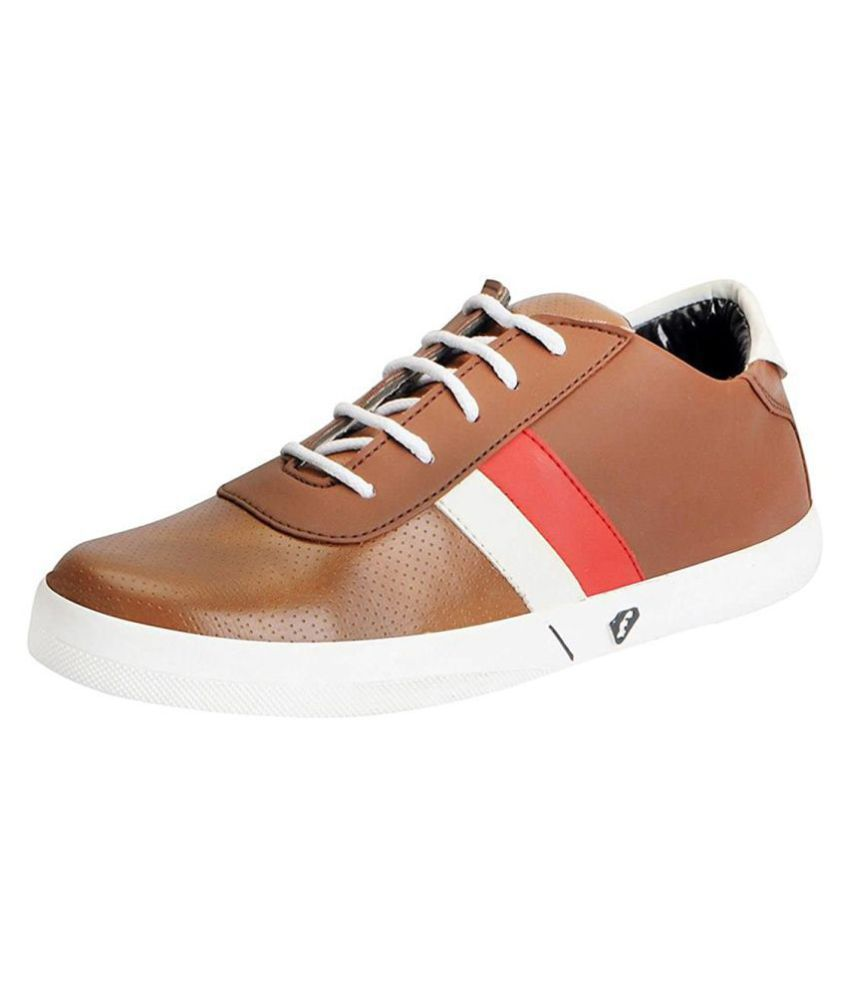 Fausto Sneakers Tan Casual Shoes