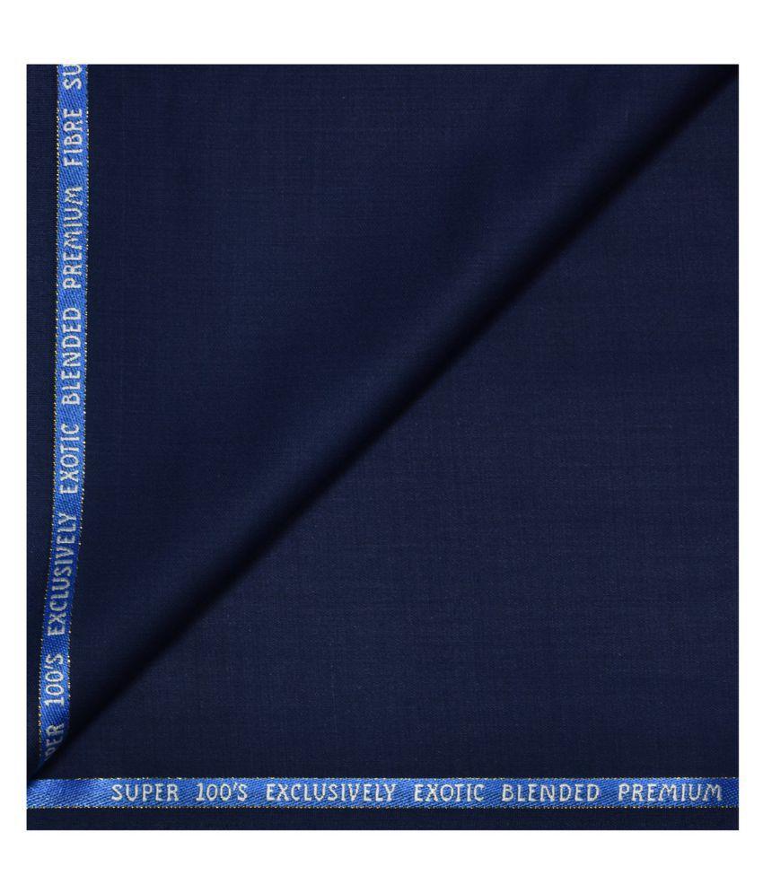 J Hampstead Blue Rayon Unstitched Suit Piece