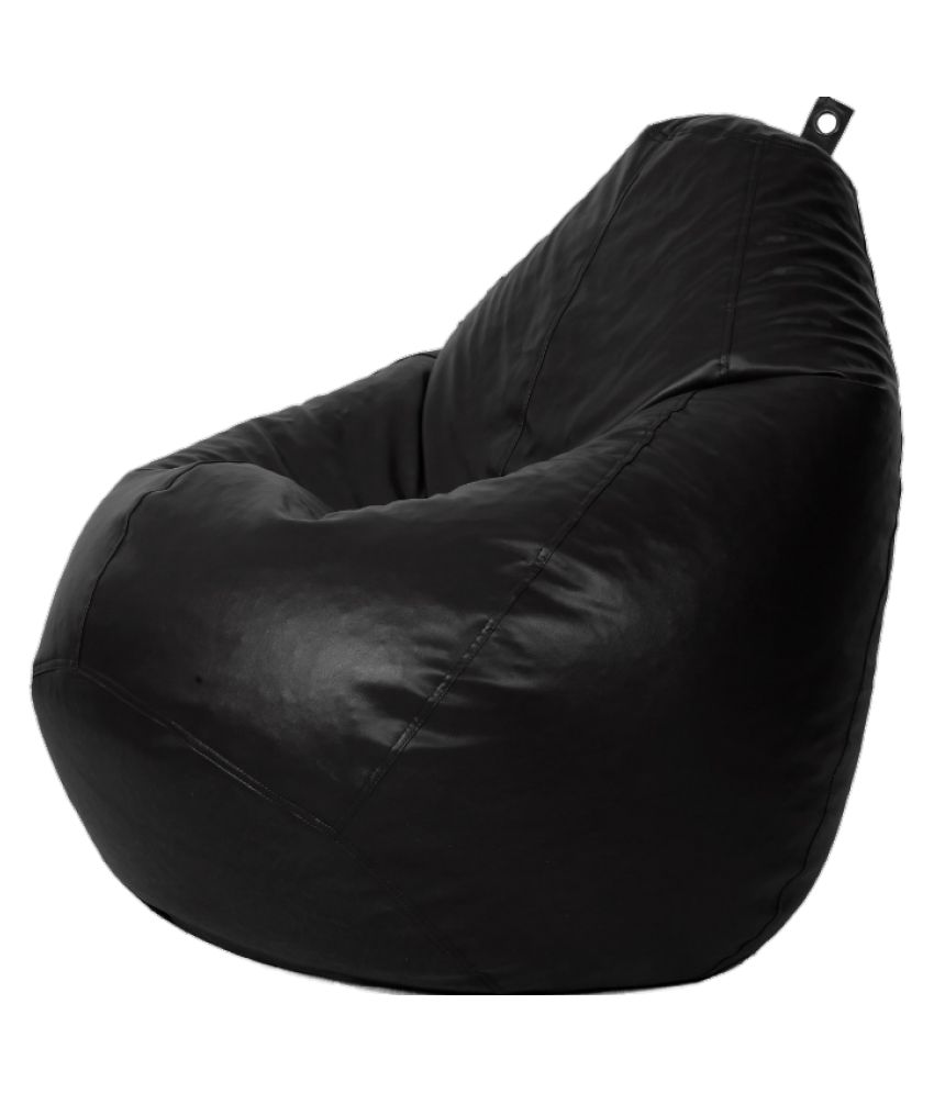DP Styles Black Tear Drop XXL Bean Bag Cover  Without Fillers