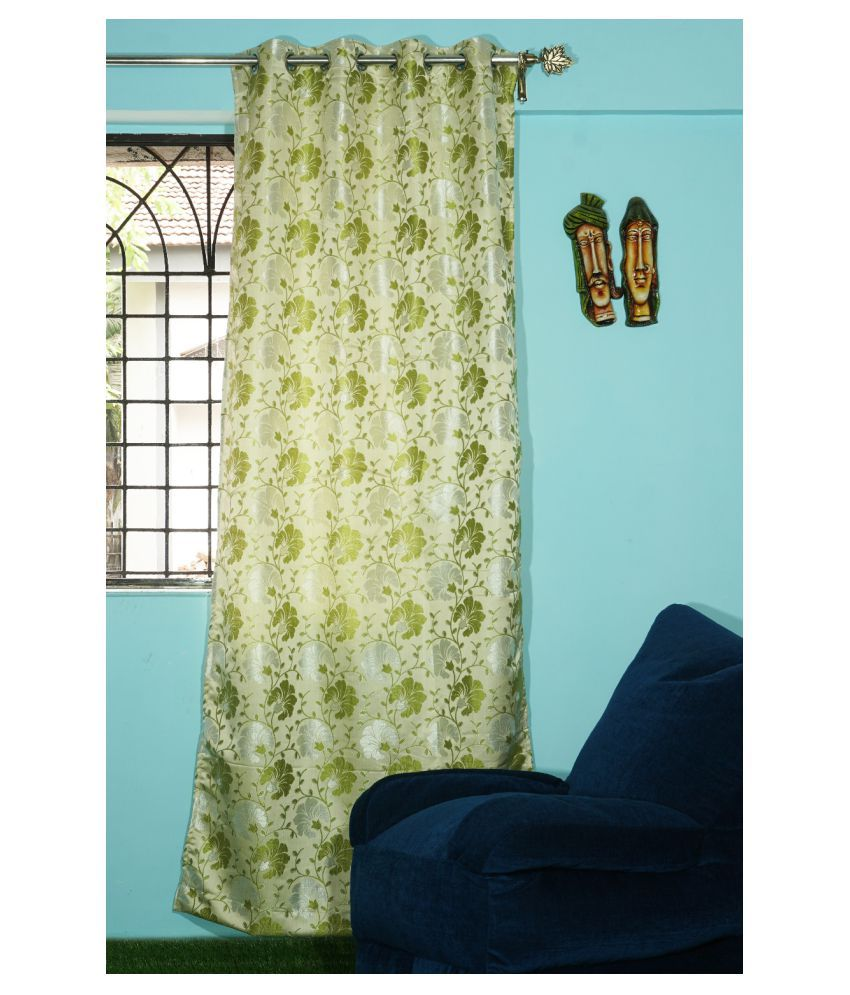 PardaOnline Single Window Blackout Room Darkening Eyelet Polyester Curtains Green