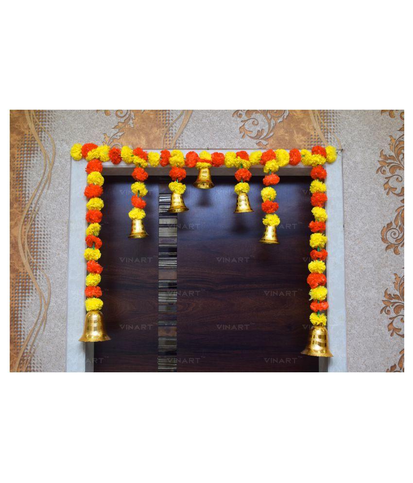 VINART Plastic Diwali Toran Yellow - Pack of 1