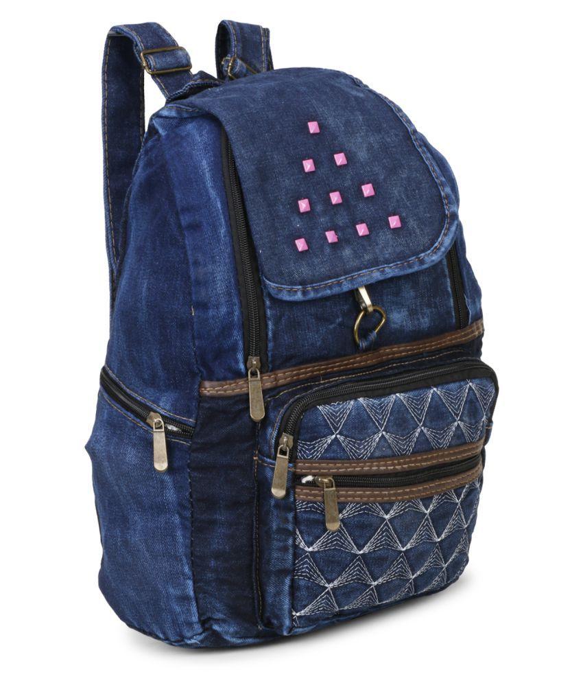 aims fusion Blue Fabric College Bag