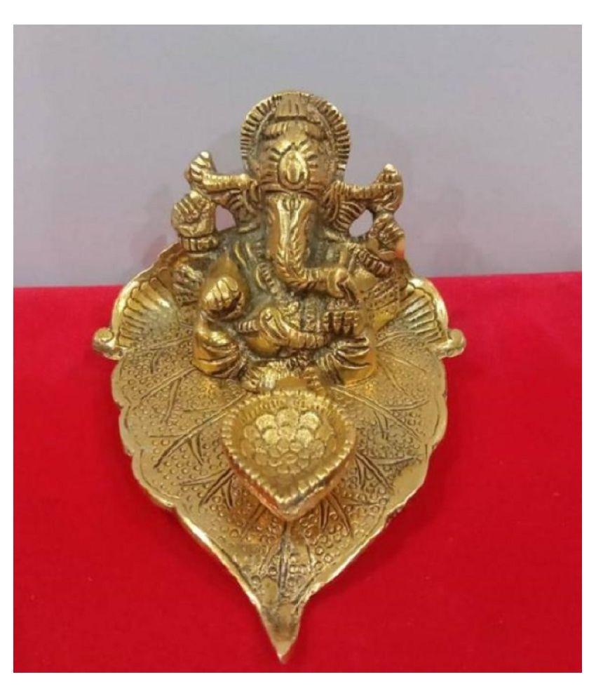 UNIQUE Metal Diwali Diyas Gold - Pack of 1