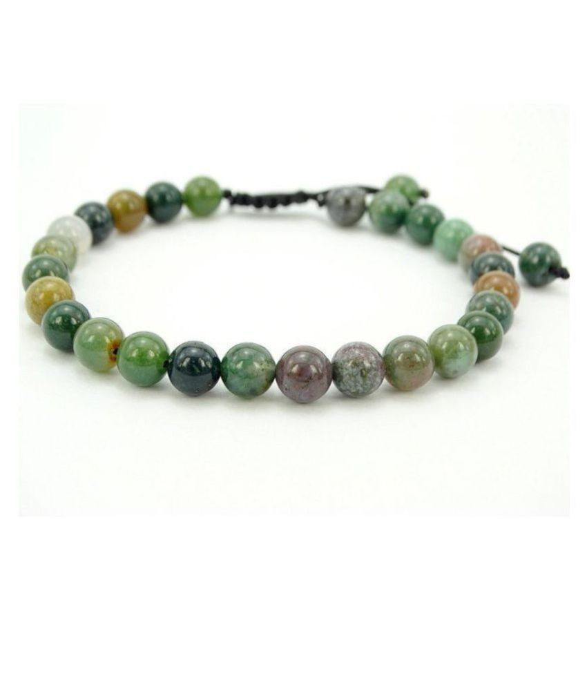 8mm Green Indian Agate Natural Agate Stone Bracelet