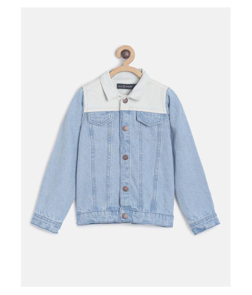 Tales & Stories Boy's Blue Solid Denim Jacket