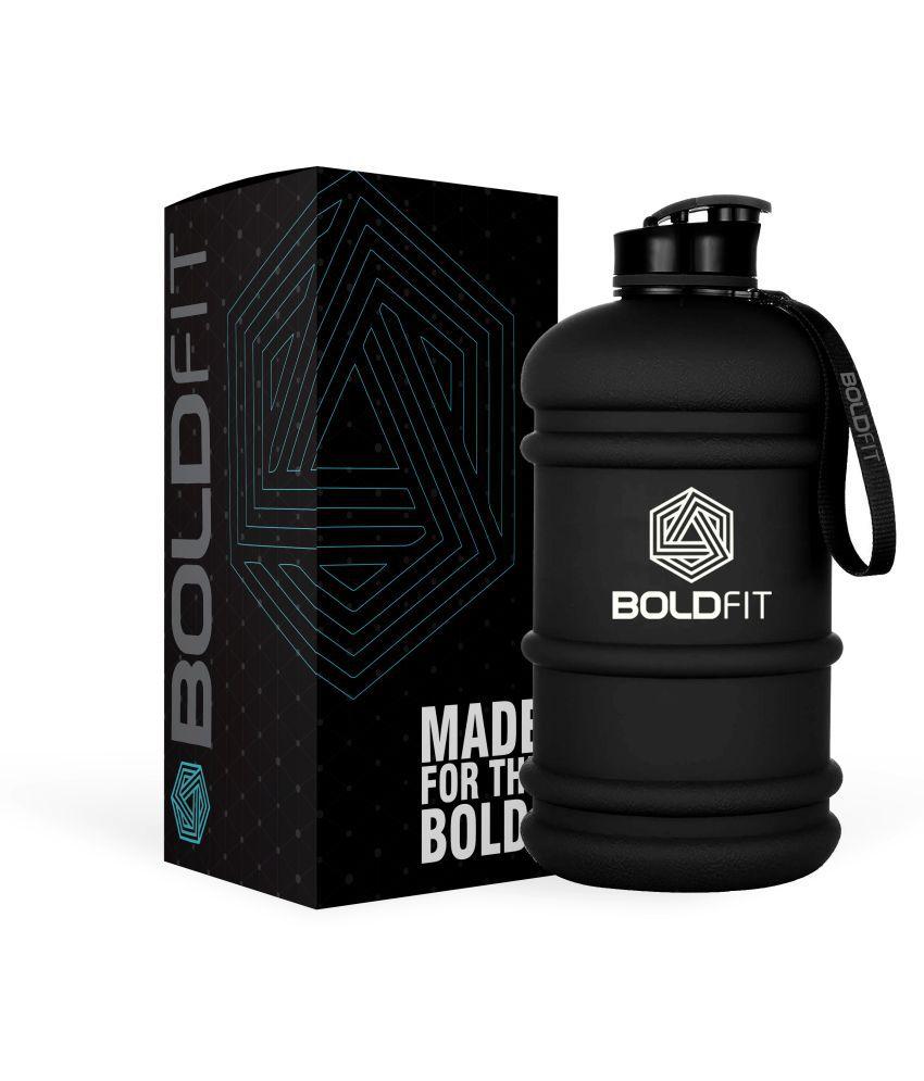 Boldfit Gym Gallon Water Jug Bottle (2.2 Litre, Extra Large Matt Gallon Black)