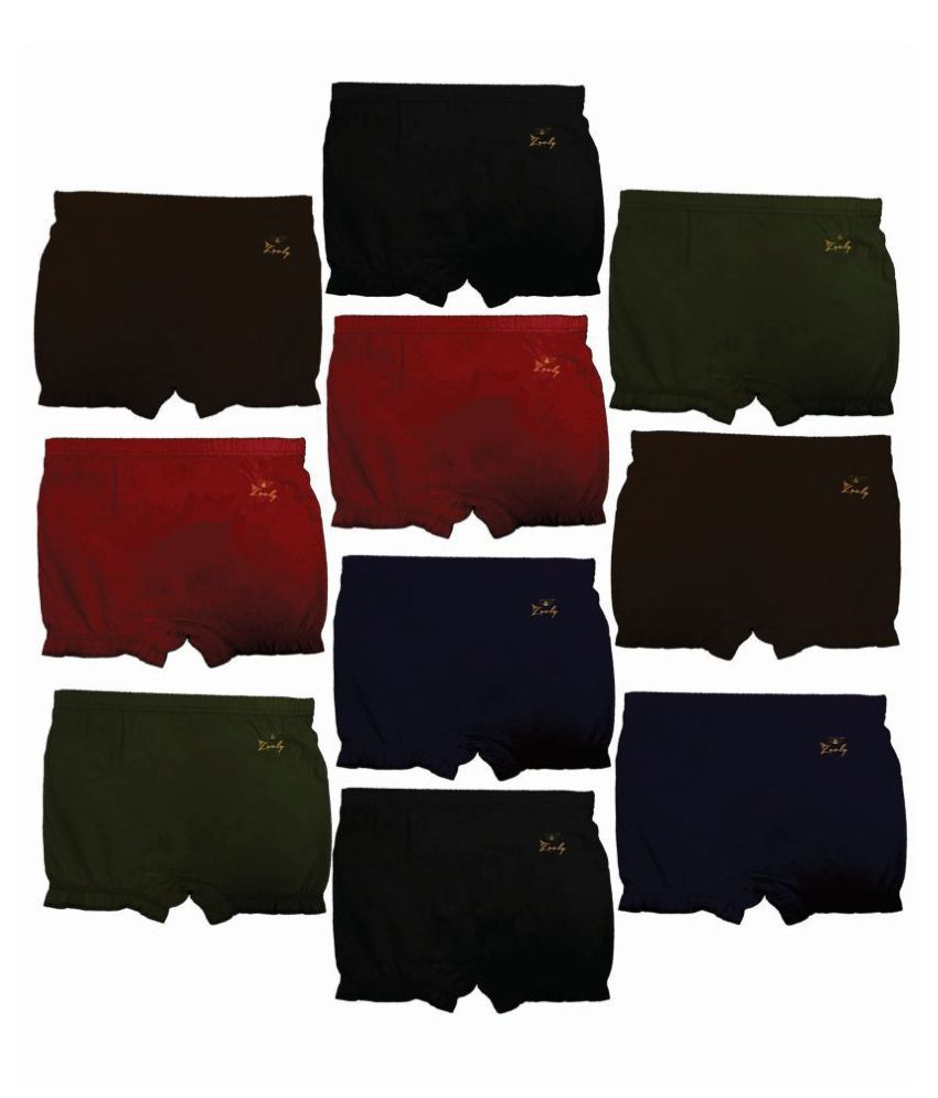 HAP Girls and Boys Cotton New Dark Color Bloomer drawer Pack (pack of 10) | Panty | Underskirt