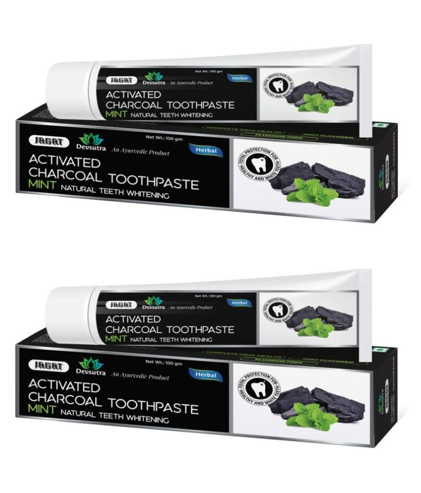 JAGAT - Charcoal Toothpaste 100 gm Pack of 2