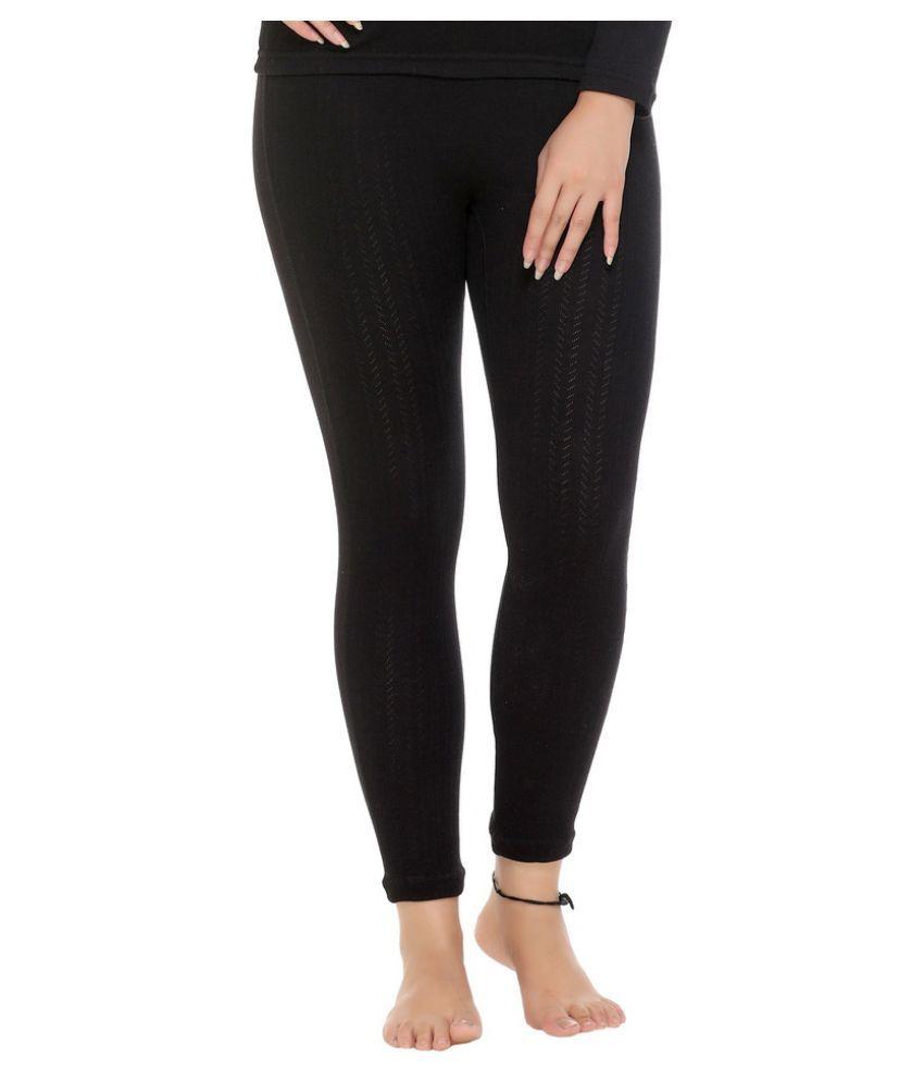 WARMZONE Cotton Blend Bottomwear - Black