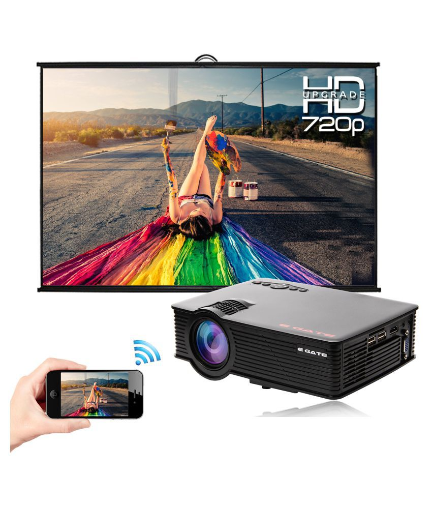 Egate I9 Pro Miracast 720p LED Projector 1280x800 Pixels (WXGA)