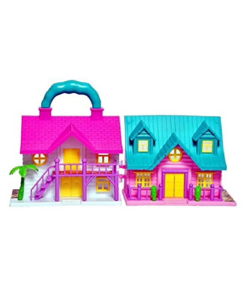 Kidsaholic Foldable Family Doll House Play Set