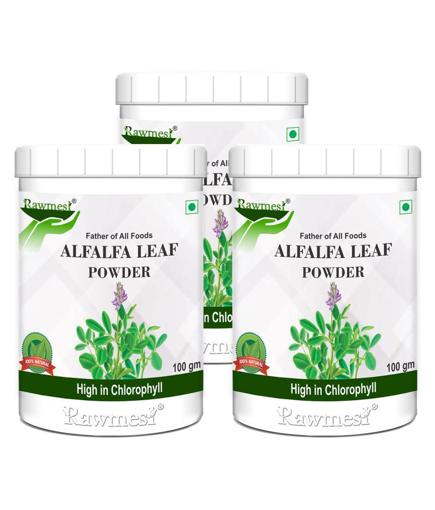 rawmest Alfalfa Leaf Powder 300 gm Pack of 3