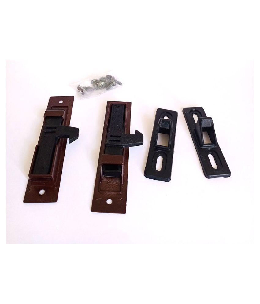 Aluminium Sliding Window Concealed Lock (2 Pcs) (Maroon)