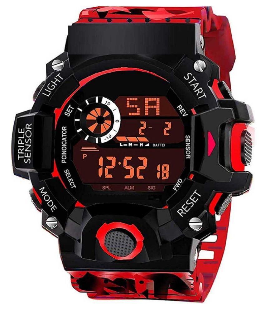 Hala G 90 Red Sport Digital Watch For Boys