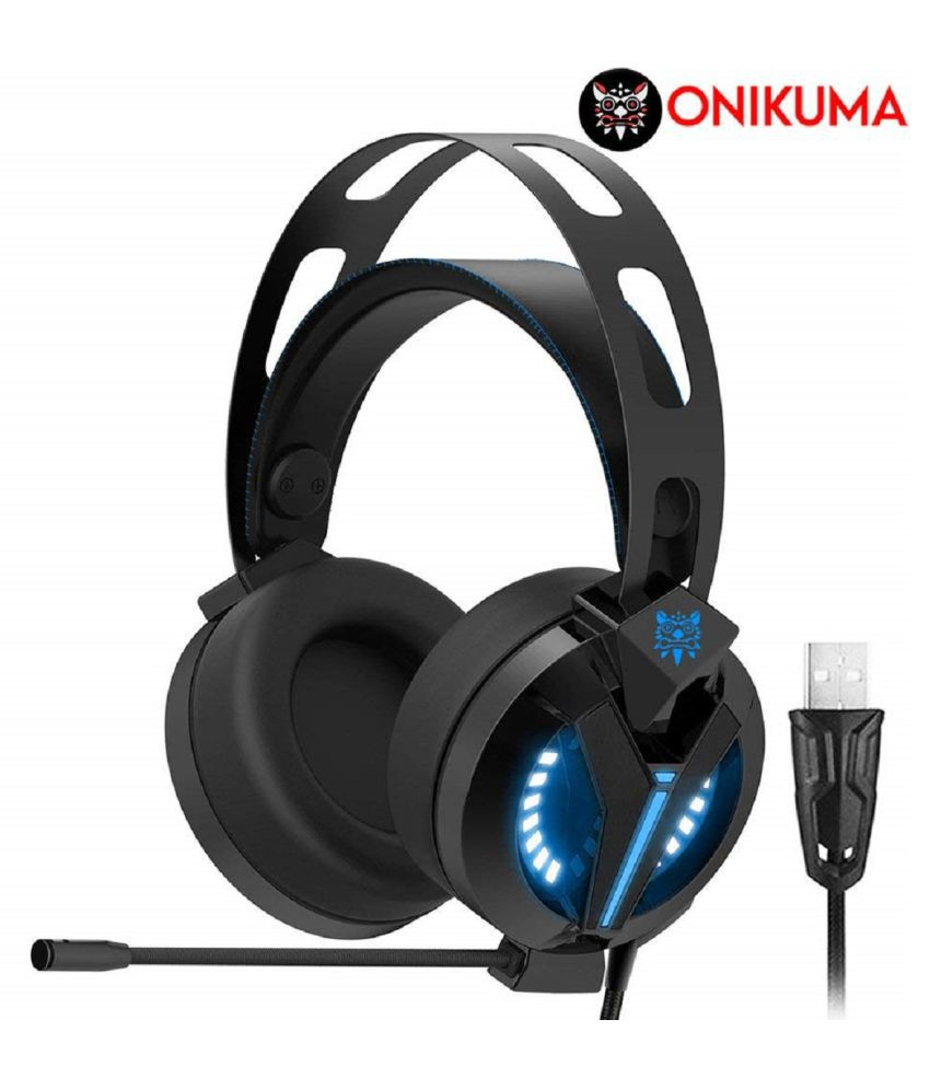 Onikuma M180 Pro 7.1 Ice Blue Gaming Headset Over Ear Wired With Mic Headphones/Earphones