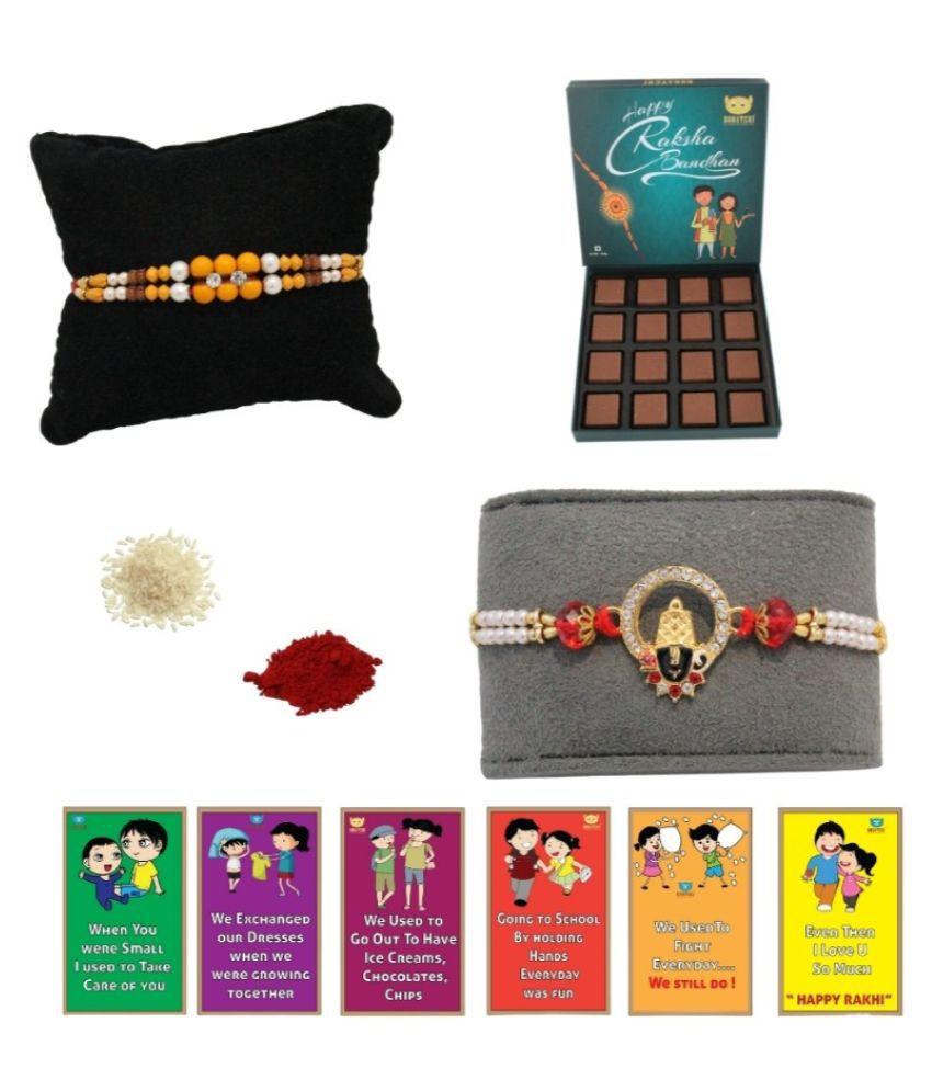 BOGATCHI Assorted Box Rakhi Gift for Brother|Rakhi Chocolate 200 gm